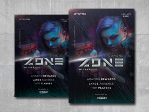 Gaming Zone Free PSD Flyer Template