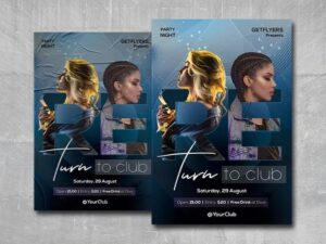 Return to Club Free PSD Flyer Template