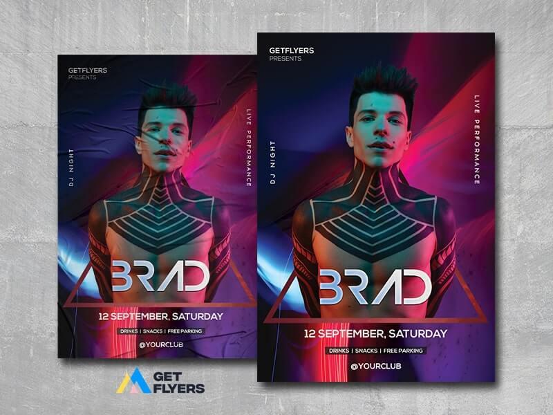 DJ Nightclub #2 Free PSD Flyer Template