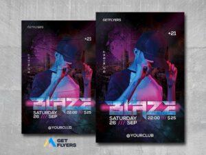 DJ Night Event #2 Free PSD Flyer Template