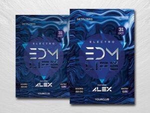 EDM Life Free PSD Flyer Template