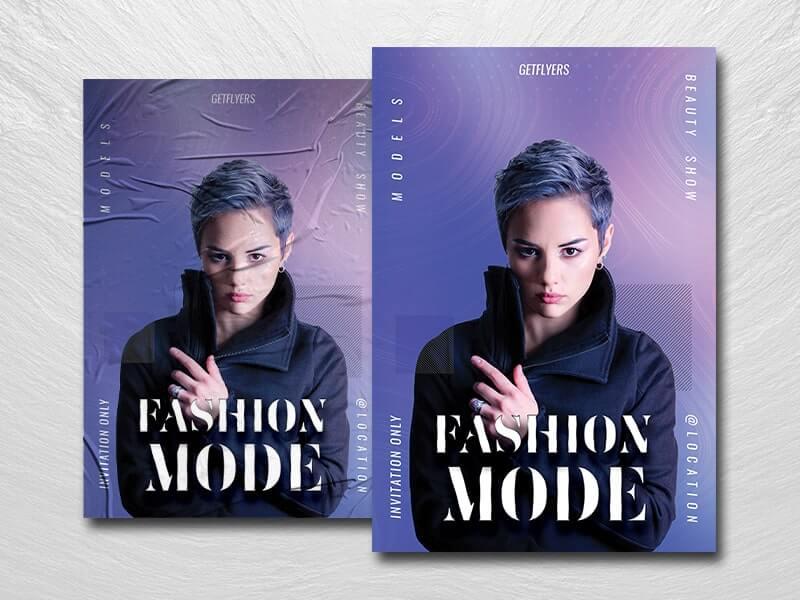 Fashion Mode Free PSD Flyer Template