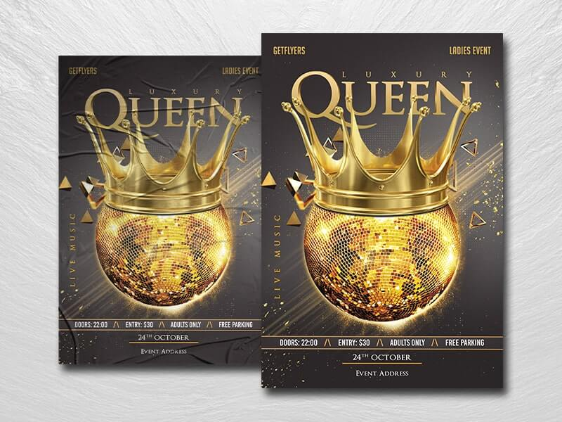 Queen Party Free PSD Flyer Template