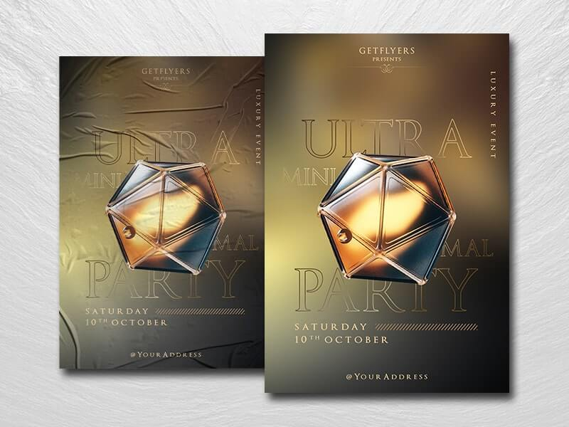 Ultra Party #2 Free PSD Flyer Template