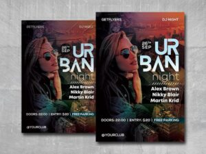 Urban Nightclub Free PSD Flyer Template