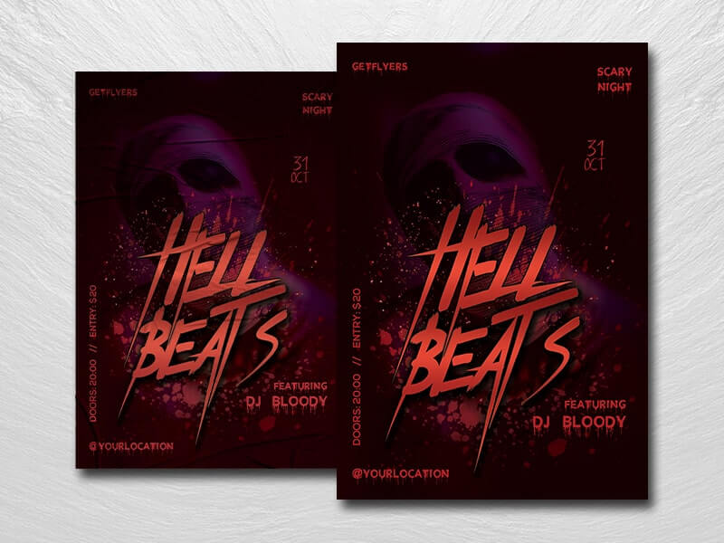 Hell Beats Free PSD Flyer Template