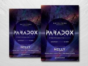 DJ Party Night Free PSD Flyer Template