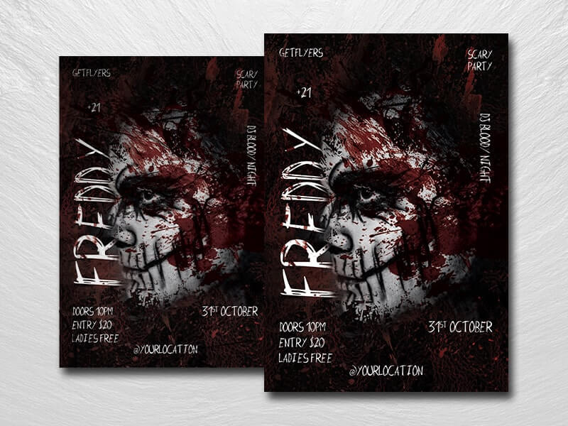 Scary Night Free PSD Flyer Template