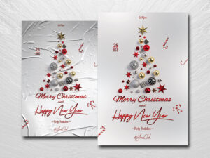 Christmas Invitation Free PSD Flyer Template