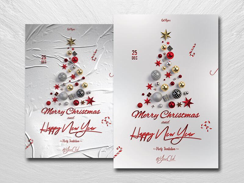 Christmas Invitation Free PSD Flyer Template