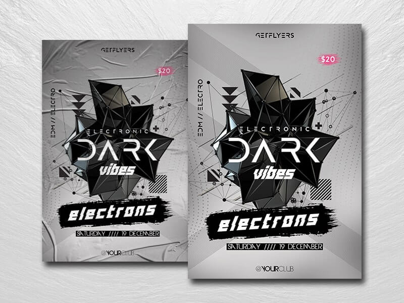 Dark Vibes Free PSD Flyer Template