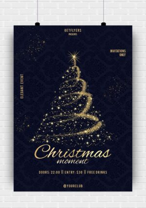 Elegant Christmas PSD Flyer Template