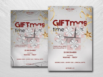 Giftmas Time Party Free PSD Flyer Template