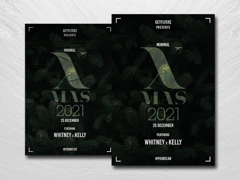 Minimal Xmas Night Free PSD Flyer Template