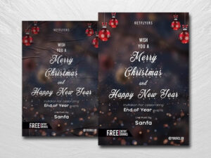 New Year Invitation Free PSD Flyer Template