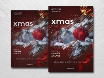 Xmas 2021 Moment Free PSD Flyer Template