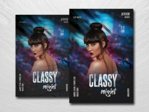 Classy Night Free PSD Flyer Template
