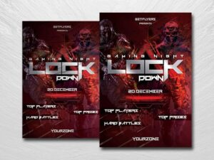 Gaming Lockdown Free PSD Flyer Template
