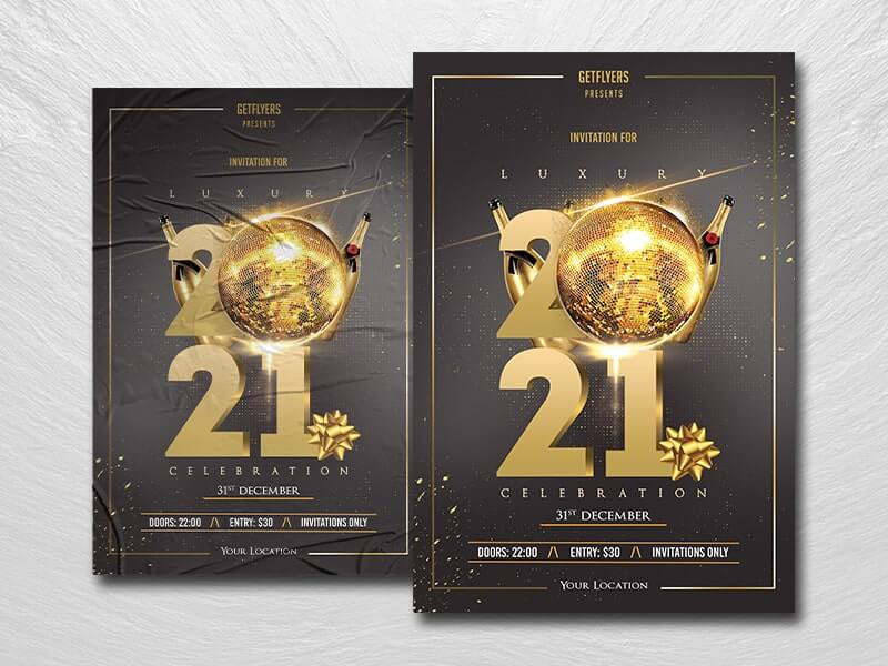Luxury NYE 2021 Free PSD Flyer Template