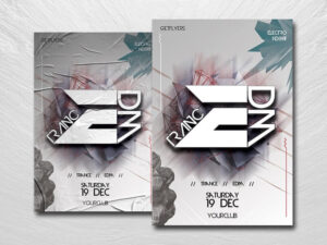 Trance EDM Free PSD Flyer Template