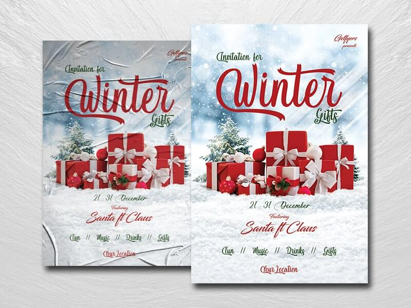 Winter Invitation Free PSD Flyer Template
