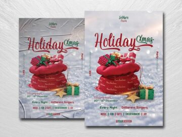 Christmas Holiday Free PSD Flyer Template