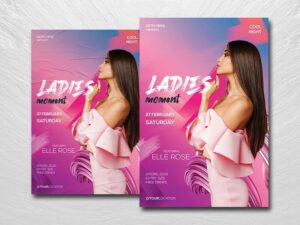 Ladies Moment Free PSD Flyer Template