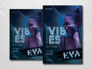 Nightclub Vibes Free PSD Flyer Template