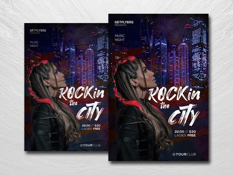 Rockin The City Free PSD Flyer Template