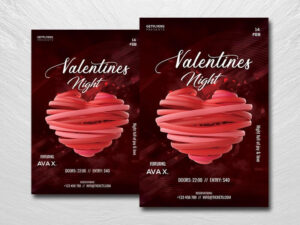 Valentine Nightclub Free PSD Flyer Template