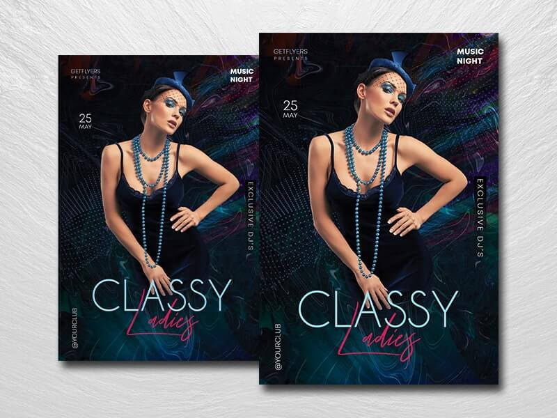 Classy Ladies Party Free PSD Flyer Template