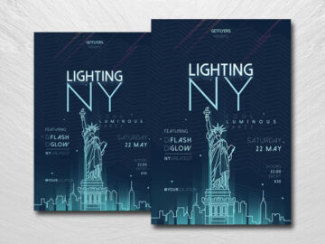 Lighting Up NY Free PSD Flyer Template