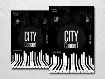 Minimal City Concert Free PSD Flyer Template