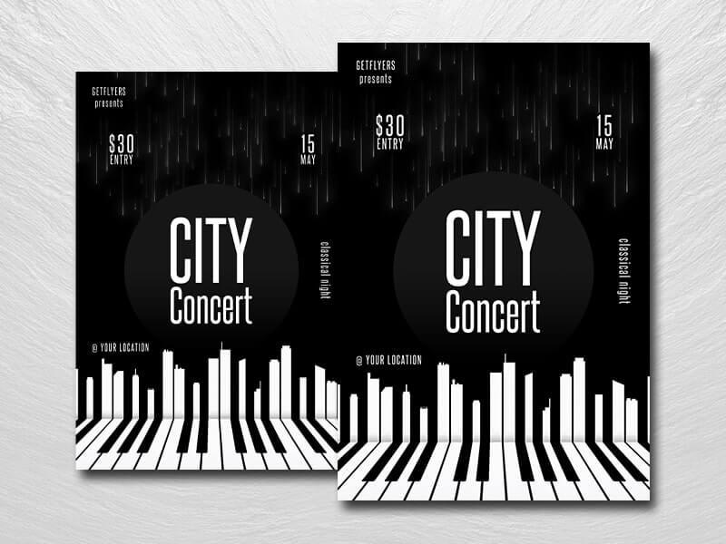 Minimal City Concert Free PSD Flyer Template