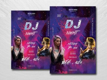 DJ Battle Night Free PSD Flyer Template