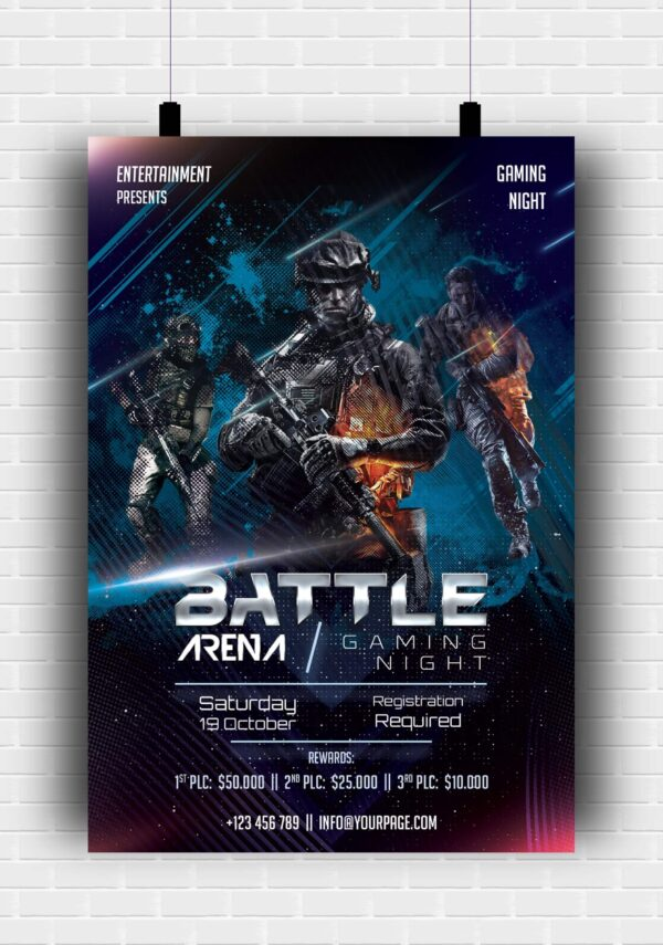 Gaming Arena Flyer PSD Template