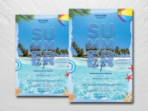 Summer Life Free PSD Flyer Template