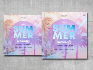 Summer Moments Free Instagram PSD Flyer Template