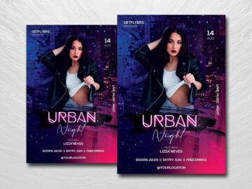 Urban Club Party Free PSD Flyer Template