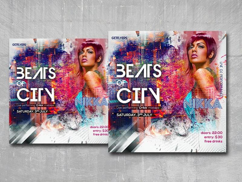 Beats of City Instagram Free PSD Template