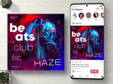 Beats of Club Instagram Free PSD Flyer Template
