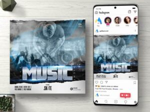 Live Music Night Free PSD Flyer Template