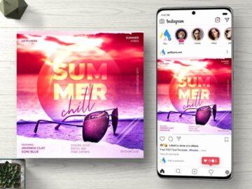 Summer Chill Free Instagram PSD Flyer