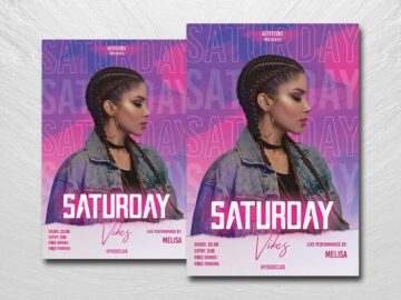 Saturday Vibes Free PSD Flyer Template