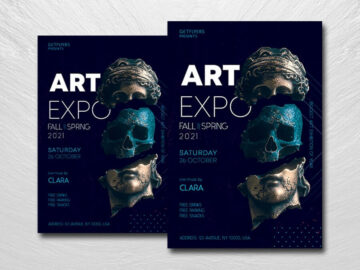 Art Expo 2021 Free PSD Flyer Template