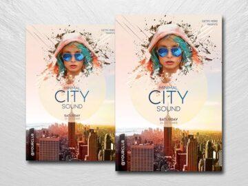 City Club Sound Free PSD Flyer Template