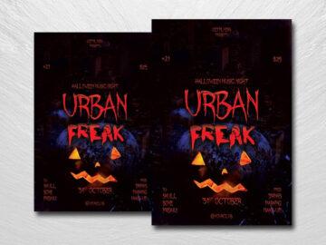 Urban Freak Free PSD Flyer Template